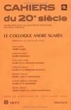 Yves-Alain Favre - Le colloque André Suarès.
