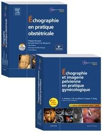 Yves Ardaens et Philippe Bourgeot - Echographie en pratique obstétricale ; Echographie et imagerie pelvienne en pratique gynécologique - Pack en 2 volumes.