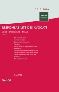 Yves Avril - Responsabilité des avocats 2015/2016.