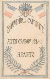Yves Badetz - Souvenir de captivité - Alten Grabow, 1914-15.