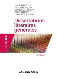 Yves Baudelle et Jacques Deguy - Dissertations littéraires générales.