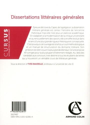 Dissertations littéraires générales 2e édition