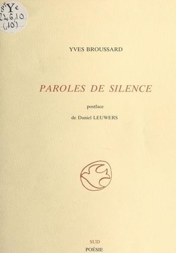 Paroles de silence