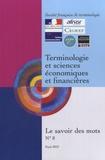 Yves Chauvin - Terminologie et sciences économiques et financières.