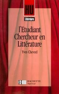 Yves Chevrel - L'étudiant-chercheur en littérature.