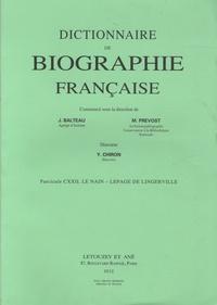 Yves Chiron - Dictionnaire de biographie française - Tome 21 Fascicule 122, Le Nain - Lepage de Lingerville.