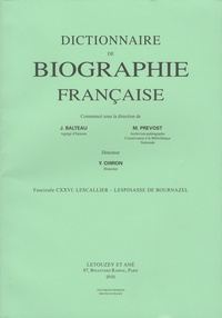 Deedr.fr Dictionnaire de biographie française - Tome 21 Fascicule 126, Lescallier - Lespinasse de Bournazel Image