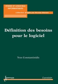 Yves Constantinidis - Définitions des besoins : pour le logiciel.