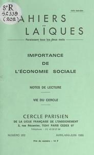 Yves Coppens et Louis Lafourcade - Importance de l'économie sociale - Notes de lecture. Vie du Cercle.