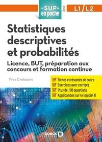 Yves Croissant - Statistiques descriptives et probabilités L1/L2.