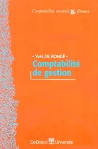 Yves De Rongé - Comptabilité de gestion.