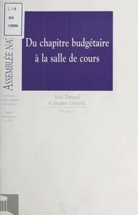 Yves Durand - Impressions. 11e législature / Assemblée nationale Tome 1535 - Rapport d'information sur la gestion des personnels enseignants du second degré.