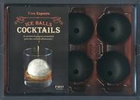 Yves Esposito - Coffret Ice Balls cocktails - Avec 4 moules à glaçons sphériques.