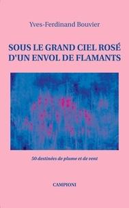 Yves-Ferdinand Bouvier - Sous le grand ciel rosé d'un envol de flamants - 50 destinées de plume et de vent.