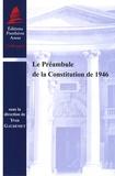 Yves Gaudemet - Le Préambule de la Constitution de 1946.