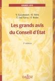 Yves Gaudemet - Les grands avis du Conseil d'Etat.