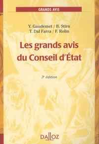 Les grands avis du Conseil d'Etat - Yves Gaudemet |