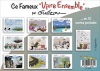 """Yves Guézou - 10 cartes postales en pochettes : """"ce fameux vivre ensemble."""