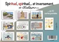 "Yves Guézou - 10 cartes postales en pochettes : ""spirituel, spirituel... et inversement."