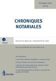 Yves-Henri Leleu - Chroniques notariales N° 64.