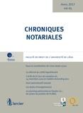 Yves-Henri Leleu - Chroniques notariales - Volume 65, avril 2017.