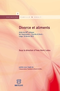 Yves-Henri Leleu - Divorce et aliments.