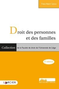 Yves-Henri Leleu - Droit des personnes et des familles.