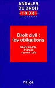 Goodtastepolice.fr DROIT CIVIL : LES OBLIGATIONS. DEUG de droit 2ème année session 1998 Image