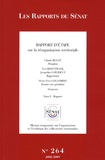 Yves Krattinger et Jacqueline Gourault - Rapport d'étape sur la réorganisation territoriale - Tome 1, Rapport.
