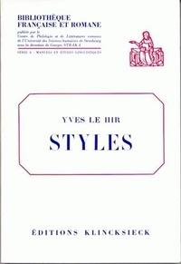 Yves Le Hir - Styles.