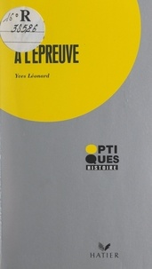 Yves Léonard et Hugues Piolet - L'ONU à l'épreuve.