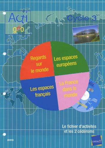 Yves Levieils - Actigéo CE2, CM1, CM2 - Nouveaux programmes - Cycle 3. 2 Cédérom