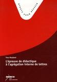 Yves Maubant - L'épreuve de didactique à l'agrégation interne de lettres.