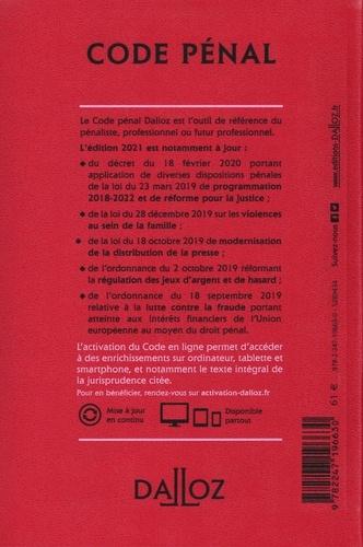 Code pénal annoté  Edition 2021
