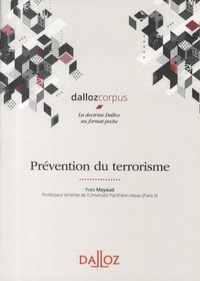 Yves Mayaud - Prévention du terrorisme.