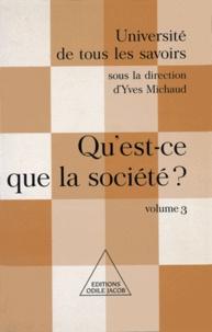 Yves Michaud - Qu'est-ce que la société ? - (Volume 3).