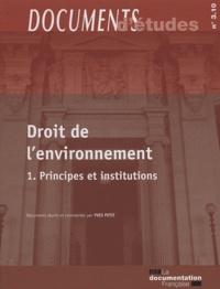 Histoiresdenlire.be Droit de l'environnement - Tome 1, Principes et institutions Image