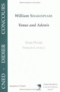 """Yves Peyré et François Laroque - William Shakespeare, """"Venus and Adonis""""."""