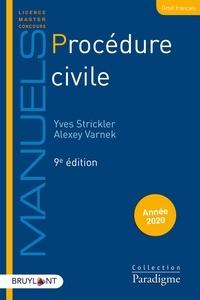 Yves Strickler et Alexey Varnek - Procédure civile.