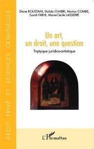 Yves Strickler et Diane Boustani - Un art, un droit, une question - Triptyque juridico-artistique.