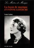 Yvette Carbou - La leçon de musique d'Yvonne Lefébure.