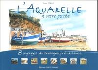 Yvon Carlo - L'aquarelle à votre portée - 8 Paysages de Bretagne pré-dessinés.