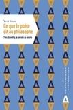Yvon Inizan - Ce que le poète dit au philosophe - Yves Bonnefoy, la pensée du poème.