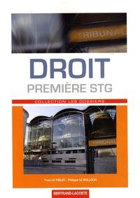 Yvon Le Fiblec et Philippe Le Bolloch - Droit 1e STG.