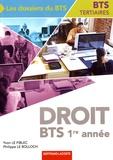 Yvon Le Fiblec et Philippe Le Bolloch - Droit 1re année BTS Tertiaires.