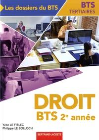 Yvon Le Fiblec et Philippe Le Bolloch - Droit, BTS tertiaites 2e année.