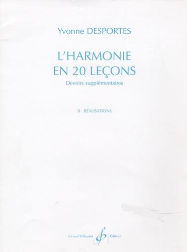 Yvonne Desportes - L'harmonie en 20 leçons - Devoirs supplémentaires, B. Réalisations.