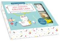 Zabeil - Mon adorable collier lama - Le livre pour réaliser le bijou avec 1 pendentif lama, 1 cordon jaune néon, 1 pompon, 1 grelot, 4 anneaux de raccord et 2 pinces lacets.