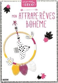 Zabeil - Mon attrape-rêves bohème - Avec 80 grammes de porcelaine froide, 6 m de fil de macramé jaune, 6 m de fil de macramé rose, 6 m de fil de macramé blanc, 2 feutres, 1 cercle de bois de 18 cm de diamètre.