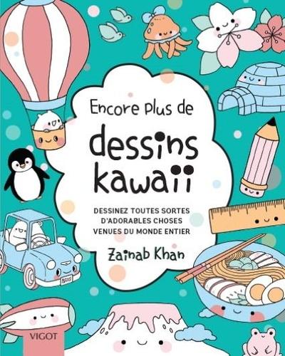 Encore plus de petits dessins kawaii. Dessinez toutes sortes d'adorables choses venues du monde entier